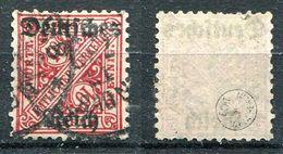 D. Reich Dienst Michel-Nr. 58 Gestempelt - Geprüft - Dienstzegels