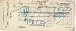 Document Financier Distillerie De Kirsch ZUG Suisse 1913 - Timbre Fiscal Belge  -- VV393 - Vins & Alcools