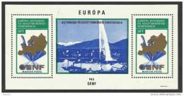 1974 Ungheria Hungary COOPERAZIONE EUROPEA Foglietto (121) MNH** Souv. Sheet Europe Cooperation - Blocchi & Foglietti