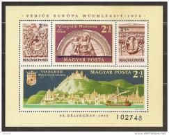1975 Ungheria Hungary PATRIMONIO ARTISTICO  ARTS HERITAGE Foglietto Di 4v. (121) MNH** Souv. Sheet - Foglietto Ricordo