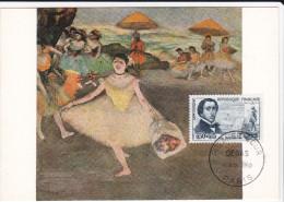 Carte Maximum FRANCE  N° Yvert 1262 (Degas - Danseuse) Obl Sp 1er Jour - 1960-69