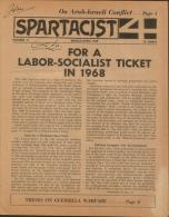SPARTACIST 1968 Bimonthly Organ Of Revolutionary Marxism - Sociologia/ Antropologia