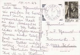 SPANIEN 1997 - 65 Cor Auf Ak CEUTA, Vista De La Catedral, Sonderstempel - 1931-Heute: 2. Rep. - ... Juan Carlos I