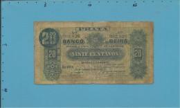 MOZAMBIQUE - 20 Centavos - 15.09.1919 - P R? - BANCO DA BEIRA - PORTUGAL - Mozambico