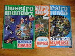 3 ALBUMES COMPLETOS COLECCION BIMBO NUESTRO MUNDO 617 CROMOS AÑO 1968 VER FOTOS - Albumes & Catálogos
