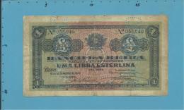 MOZAMBIQUE - 1 LIBRA ESTERLINA - 15.09.1919 - Pick R6b - BANCO DA BEIRA - PORTUGAL - Mozambico