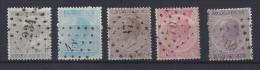 N°17A/21A GESTEMPELD L234/L48/L37/L70/L60 COB € 148.25 + NIPA 700 SUPERBE - 1865-1866 Linksprofil