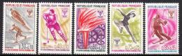FRANCE  - 1968 - Yvert  1543 / 47 ** - JO De Grenoble - France