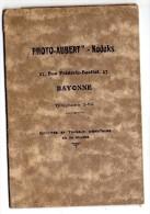 Pochette De Photographie,photo AUBERT - KODAKS,Bayonne,27 Rue Frédéric Bastiat , 17 X 12 Cm, Frais Fr : 1.80€ - Photographie