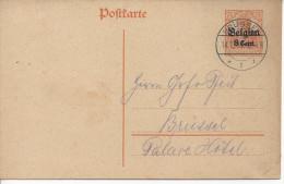Germany (Belgien) 1916  Postkarte P10  (o) Brussel 14.1.17 - Occupation 1914-18