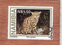 NAMIBIA  --  FELIS  NIGRIPES  --   CACHET  DE GOBADIS   --  **  N § 1.50 ** --  POSTE  1997  --  TBE - Namibia (1990- ...)