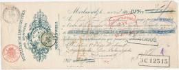 BELGIQUE - Document Financier Via Poste - TP Fine Barbe DINANT 1902 - Distillerie Delattre à MORLANWELZ  -- VV396 - Vins & Alcools