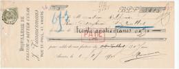 BELGIQUE - Document Financier Via Poste - Distillerie Elixir Bitter Cesar à ANVERS 1900 -- VV398 - Vins & Alcools