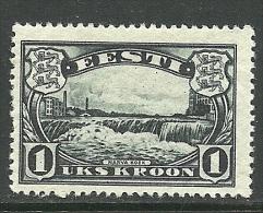 ESTLAND Estonia Estonie 1933 Narva Wasserfälle Waterfall Michel 98 * - Estonia