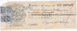 BELGIQUE - Document Financier Via Poste - TP Fine Barbe1895 Médailles Expos Liqueur Deymann Bitter à SCHAERBEEK -- VV403 - Vins & Alcools