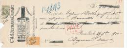 BELGIQUE - Document Financier Via Poste - TP Fine Barbe Déf.1900 Liqueur Deymann Bitter à SCHAERBEEK  -- VV404 - Vins & Alcools