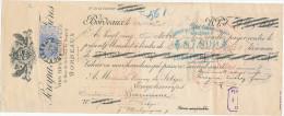 FRANCE - Document Financier Via Poste Belge - TP Fine Barbe 1899 - Vins Fins Pereyra-Soarez à BORDEAUX  -- VV406 - Vins & Alcools