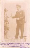 Carte Photo A Identifier-homme-(tampon Charles Holtzer-maitre De Ballet-professeur De Danse Au Verso) - Zu Identifizieren