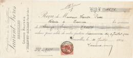FRANCE / BELGIQUE - Document Financier Via Poste Belge 1906 - Malterie à BLANGY-ARRAS - Laurent à Bruxelles  -- VV409 - Bières