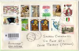 Raccomandate Varie - 50 Francobolli Con Annullo Rotondo - 1981-90: Storia Postale