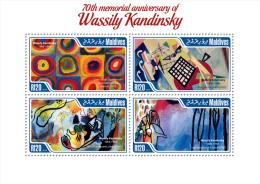 Mld14401a Maldives 2014 Painting Wassily Kandinsky S/s - Arts