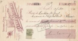 BELGIQUE - Document Financier Via Poste Belge 1901 - Produits Pour Brasserie Cesar Mertens à ANVERS  -- VV414 - Bières