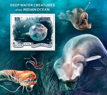 mld14304b Maldives 2014 Deep water creatures Fish s/s