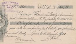 BELGIQUE - Document Financier Via Poste Belge 1900 - Houblons Pour Brasserie Remi Roels à GAND  -- VV415 - Bières
