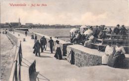 Rostock Warnemünde An Der Mole Belebt Zuschauer Tribüne In Erwartung Der Kaiser Yacht Meteor 2.3.1909 Gelaufen - Rostock