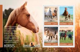 ugn14201a Uganda 2014 Horses s/s