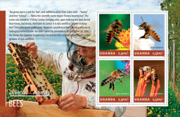 ugn14207a Uganda 2014 Bees s/s