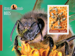 ugn14207b Uganda 2014 Bees s/s