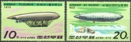 North Korea 1979 Airships Zeppelin Stamps Sea Elephant Walrus - Airships