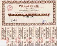 LOT DE 30 ACTIONS DE 1000 FRANCS -SOCIETE PALLADIUM -ARGENTEUIL - Industrie