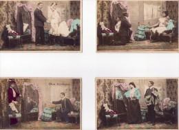 Lot De 5 Cartes Couple-mon Couturier - Paare