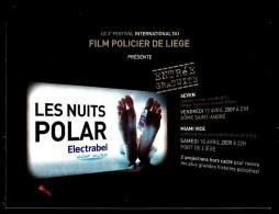 """Annonce Du 3 E Festival International Du Film Policier De LIEGE - """"Les Nuits Du Polar"""" - Non Circulé - Not Circulated. - Plakate Auf Karten"""