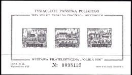 """POLAND """"polska 1000"""" 1960 Sheet Mint - Varietà E Curiosità"""
