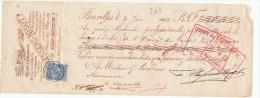 BELGIQUE - Document Financier Via Poste Belge 1902 - Boites Pour Pharmaciens Claessens à FOREST Bruxelles  -- VV421 - Pharmacy