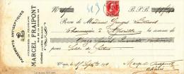 BELGIQUE - Document Financier Via Poste Belge 1911 - Pansements Antiseptiques Fraipont à LIEGE  -- VV422 - Pharmacy