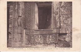 PC Ruines D´Angkor - Le Bayon, Décoration Murale Des Chapelles à La Base De La Tour Centrale (6962) - Kambodscha