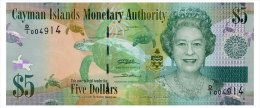 CAYMAN ISLANDS 5 DOLLARS 2010 Pick 39 Unc