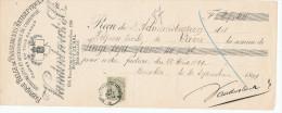 BELGIQUE - Document Financier Via Poste Belge 1899 - Pansements Antiseptiques Vandenbroeck à BRUXELLES  -- VV425 - Pharmacy