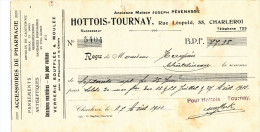 BELGIQUE - Document Financier 1913 - Accessoires De Pharmacie Hottois-Tournay à CHARLEROI  -- VV426 - Pharmacy