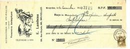 BELGIQUE - Document Financier Via Poste Belge 1912 - Accessoires De Pharmacie Lambeau à BRUXELLES  -- VV427 - Pharmacy