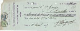 BELGIQUE - Document Financier Via Poste Belge 1909 - Instruments De Chirurgie Wengenroth à LIEGE  -- VV431 - Médecine