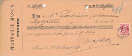 BELGIQUE - Document Financier Via Poste Belge 1911 - Pharmacie Masson à FOSSES  -- VV434 - Pharmacy