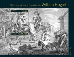 tg14304b Togo 2014 Painting William Hogarth s/s Horse Dog