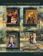 Tg14306a Togo 2014 Painting Pierre-Auguste Renoir S/s - Impressionisme