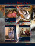 Tg14307a Togo 2014 Painting Edgar Degas S/s - Impressionisme