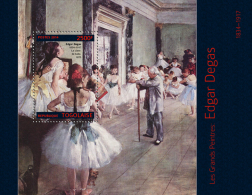 tg14307b Togo 2014 Painting Edgar Degas s/s